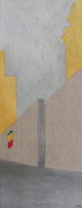acrilico su tela di lino grezza