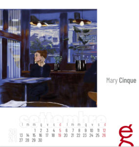 Mary Cinque Wolf restaurant, digital painting